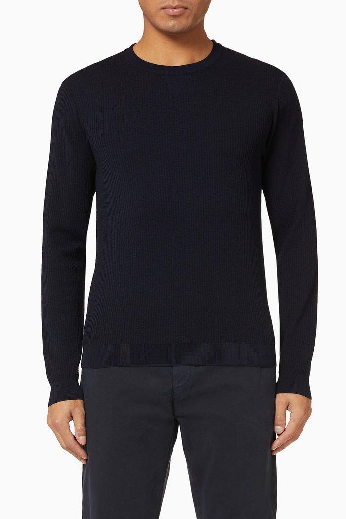 Jacquard Stripes Knit Sweater