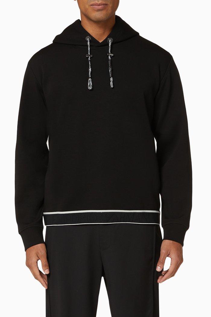 EA Logo Tape Jersey Hooded Sweatshirt