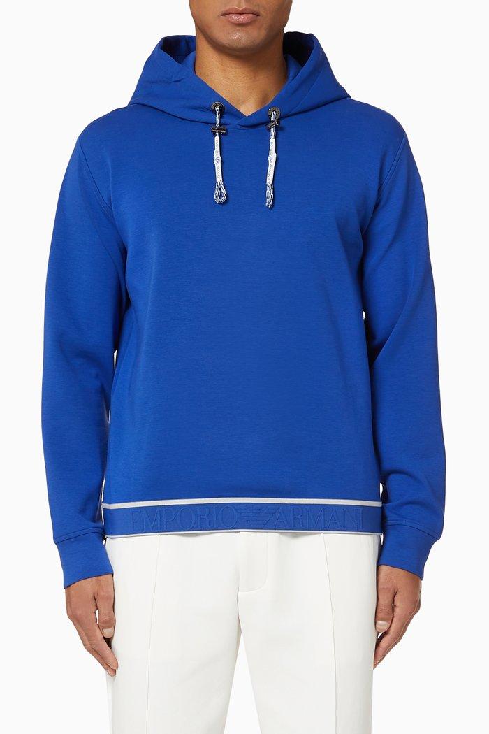 EA Logo Tape Hooded Jersey Sweatshirt
