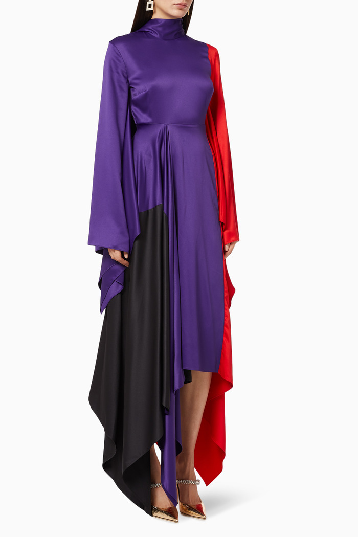 Ella Satin Midaxi Dress