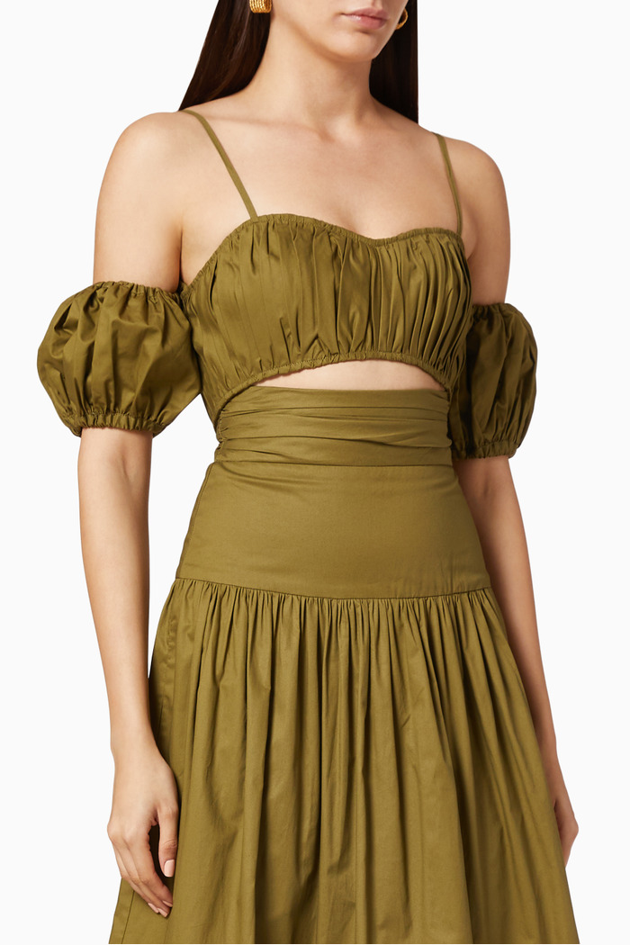 Amaia Ruched Cropped Top