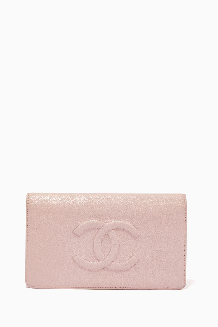 CC Long Wallet in Caviar Leather