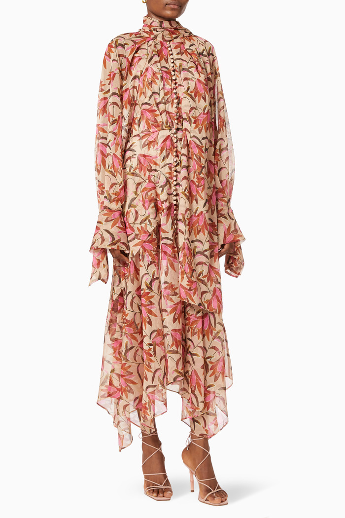 Cathedral Dress in Floral Chiffon