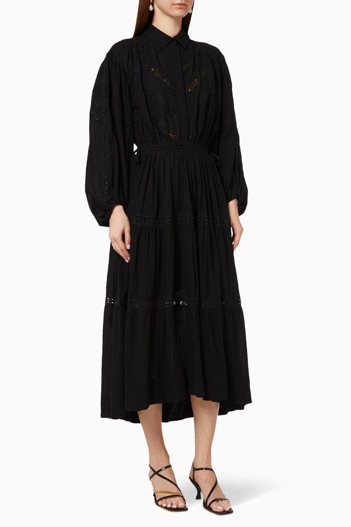Chloe Chevron Cotton Gauze Dress
