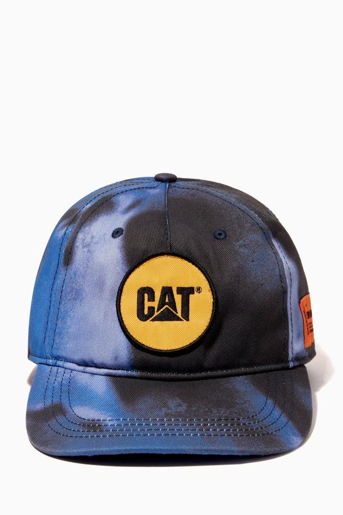 x Caterpillar Patch Tie-Dye Baseball Cap in Cotton