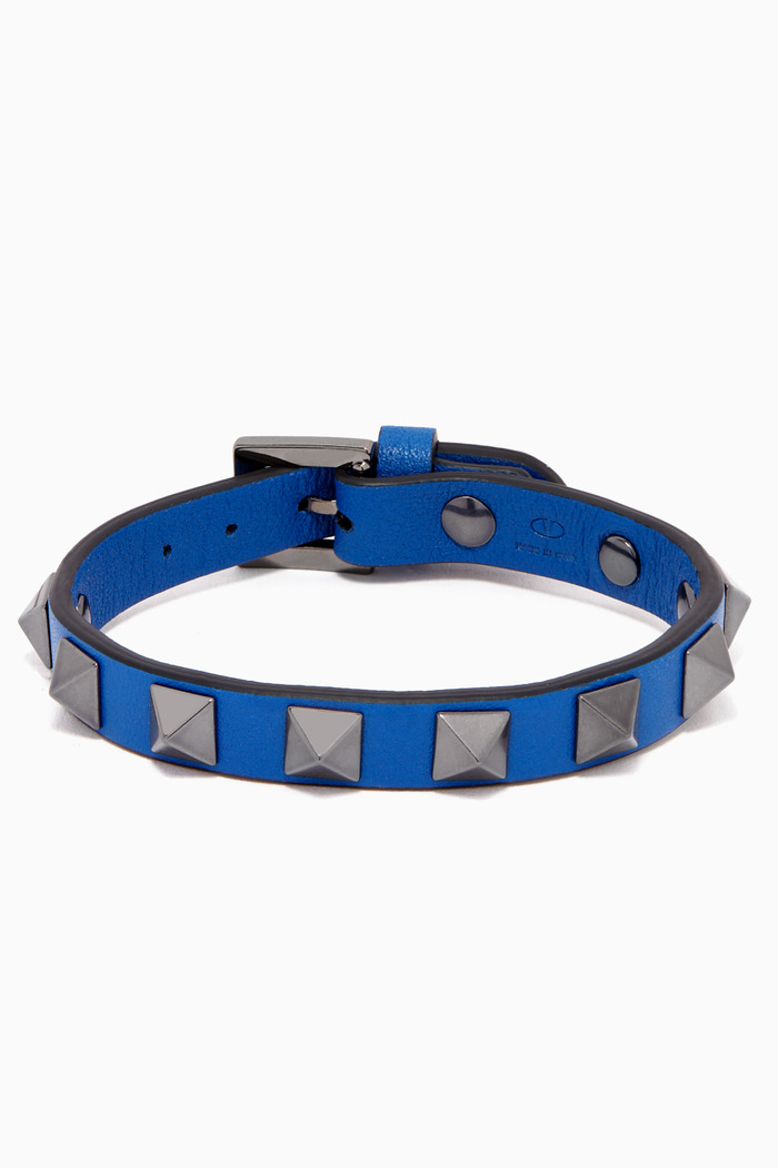Valentino Garavani Rockstud Bracelet in Leather