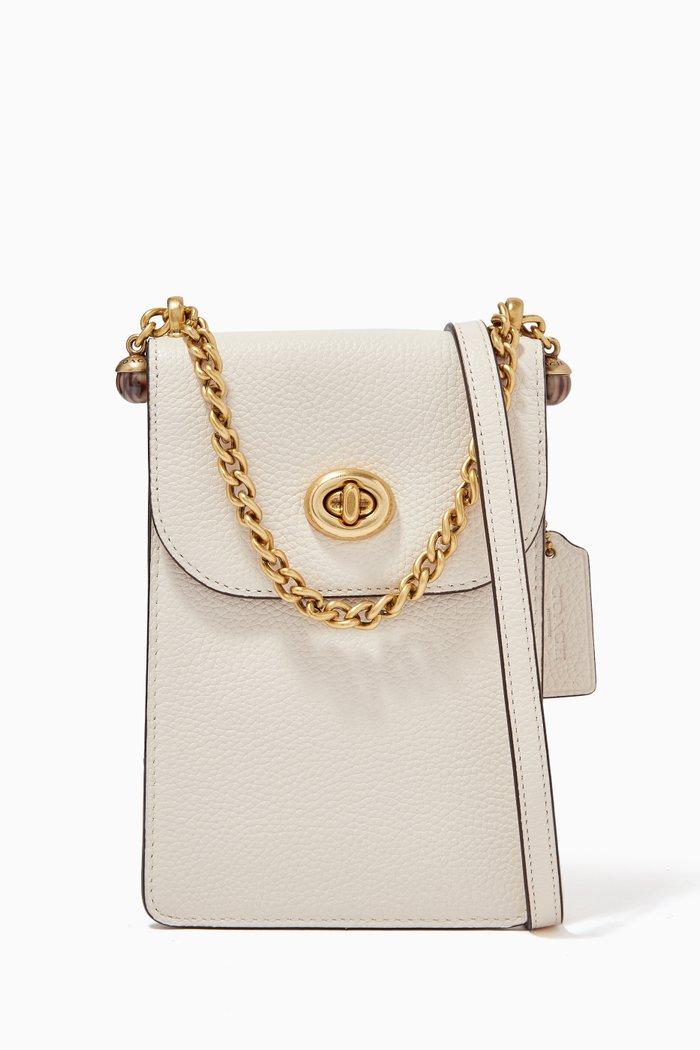 Liv Phone Crossbody Bag in Pebble Leather