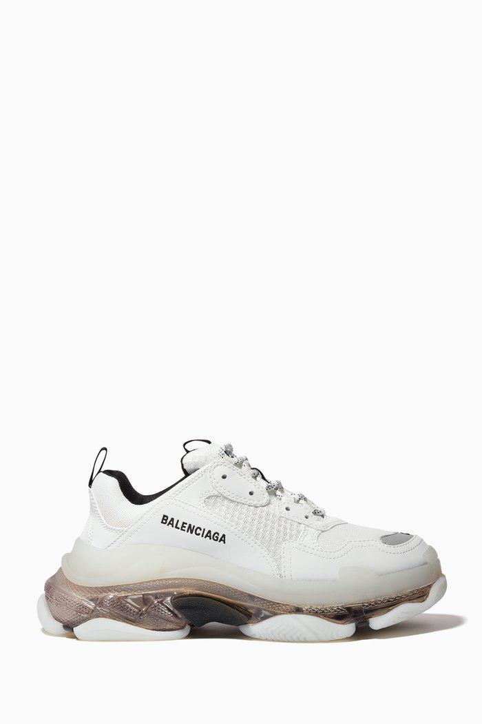 Triple S Clear Sole Sneakers in Double Foam & Mesh