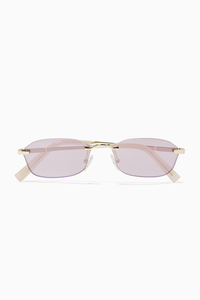 Adolfo Oval Sunglasses