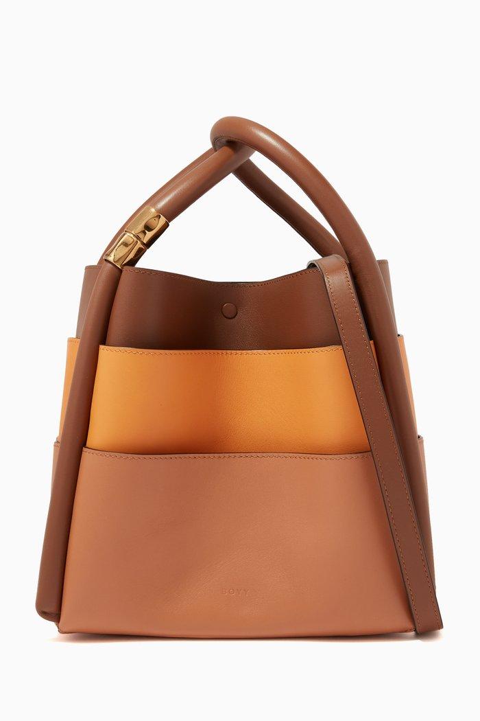 Lotus 20 Slots Tote Bag in Calf Leather