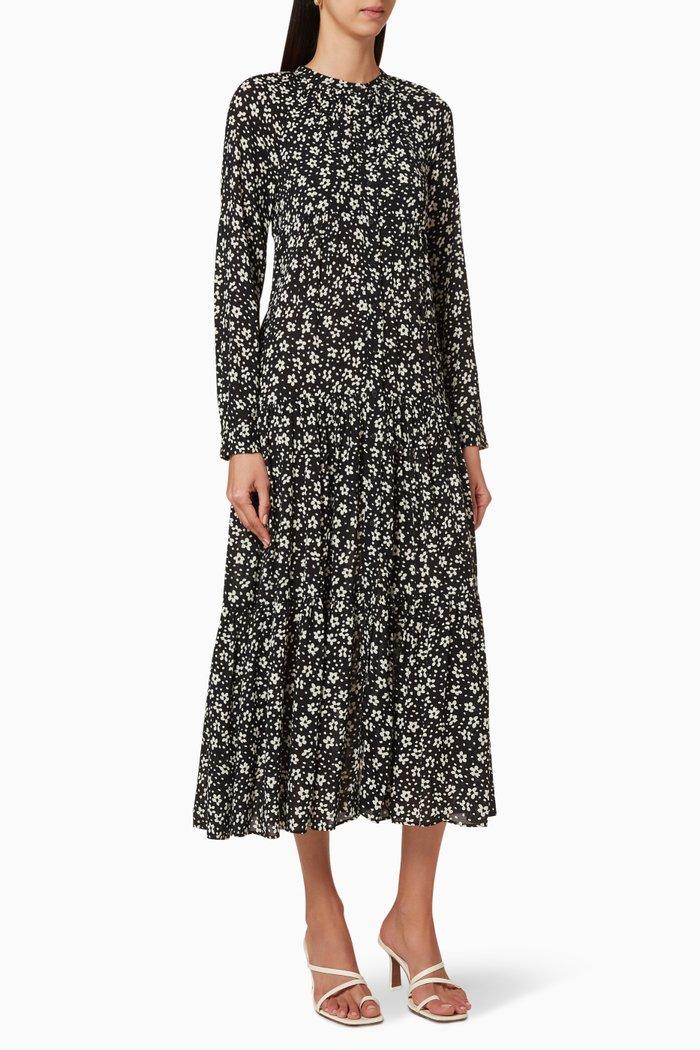 Daisy Trapeze Midi Dress
