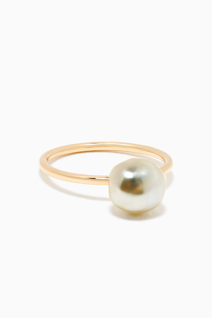 Pearl Ring in 18kt Yellow Gold