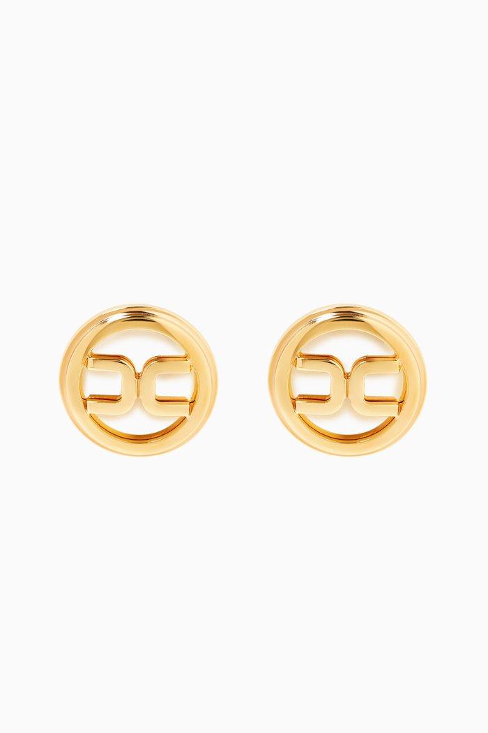 Button Logo Earrings