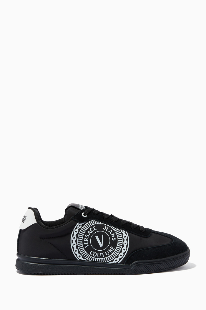 Logo Sneakers in Leather & Suede