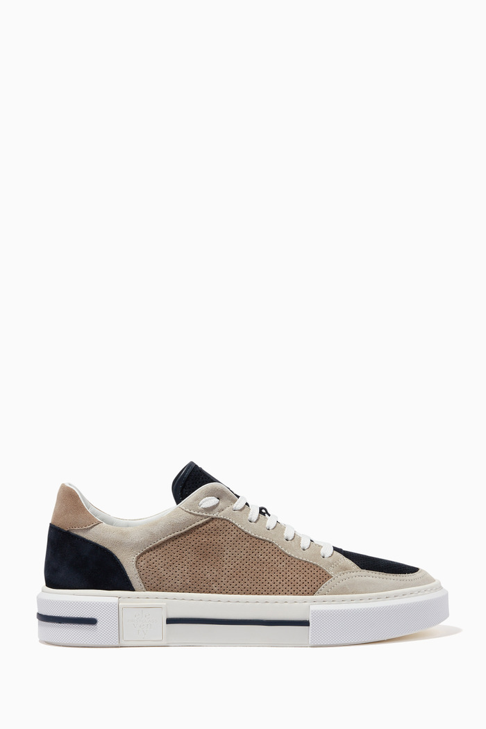 Sneakers in Perforated Suede