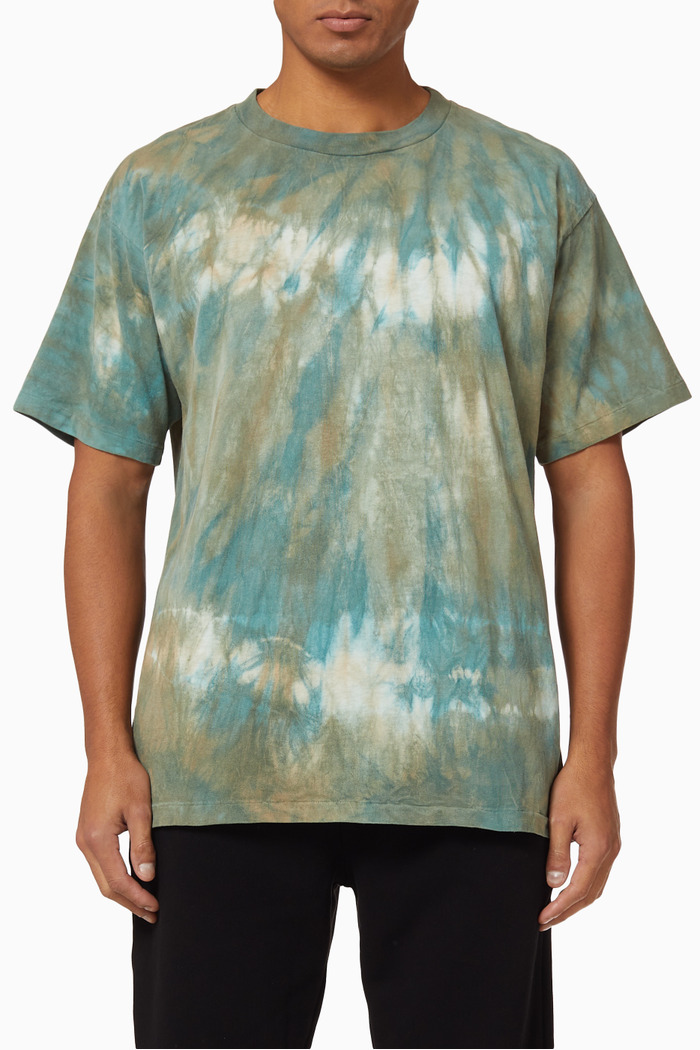 University Recycled Cotton Surface Tie Dye T-shirt
