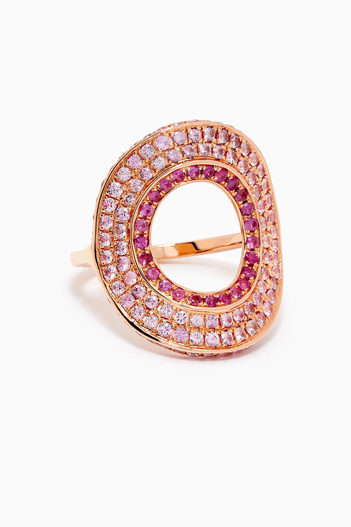 Modernist Sapphire Ring in 18kt Rose Gold