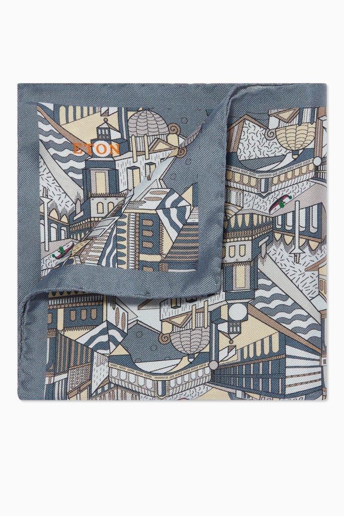 City Print Silk Pocket Square