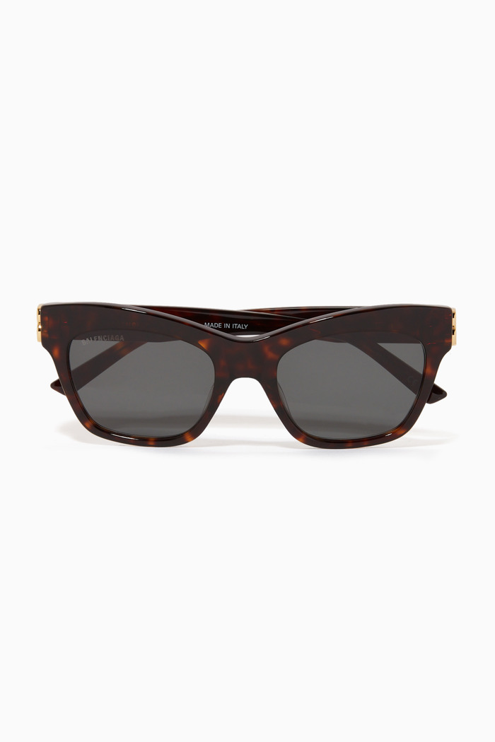 Square D-Frame Sunglasses in Acetate
