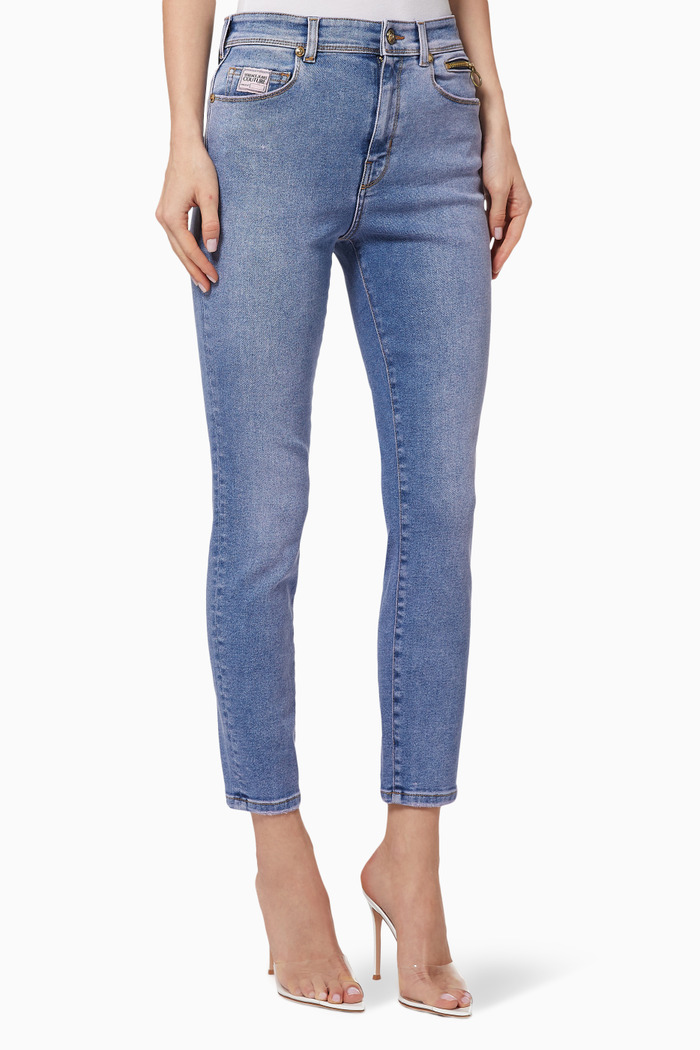Jeans with Logo Patch