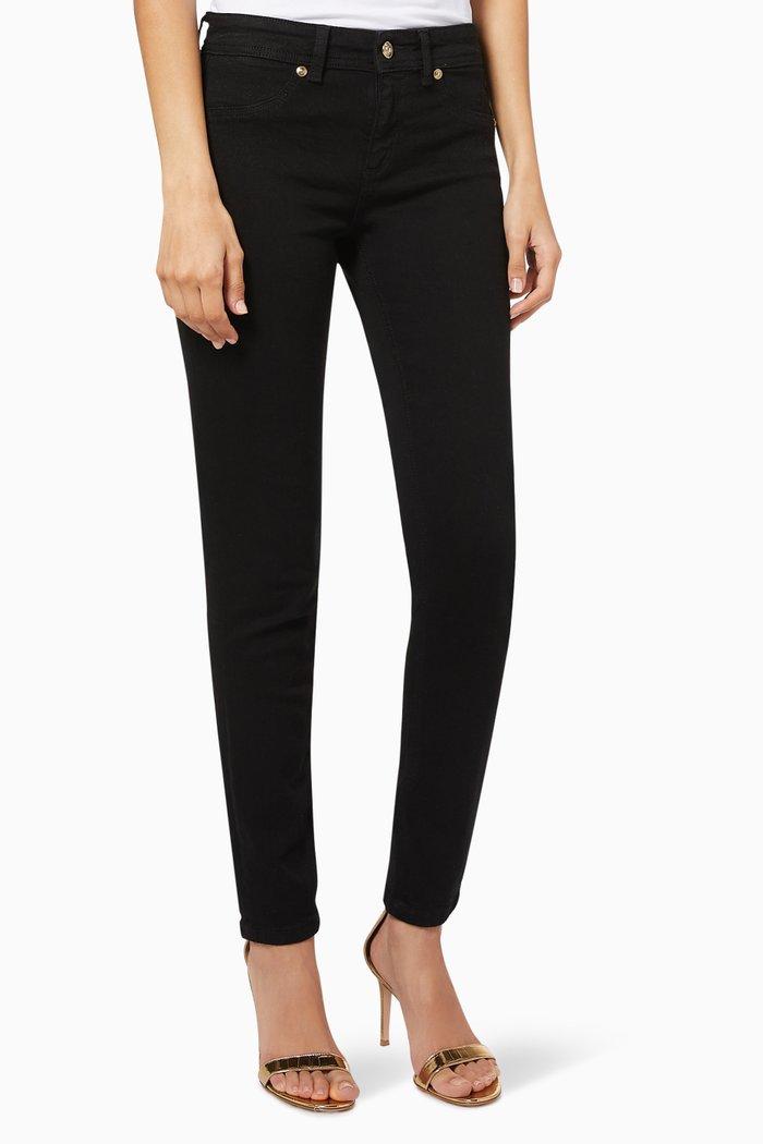 V-Emblem Stretch Cotton Skinny Jeans