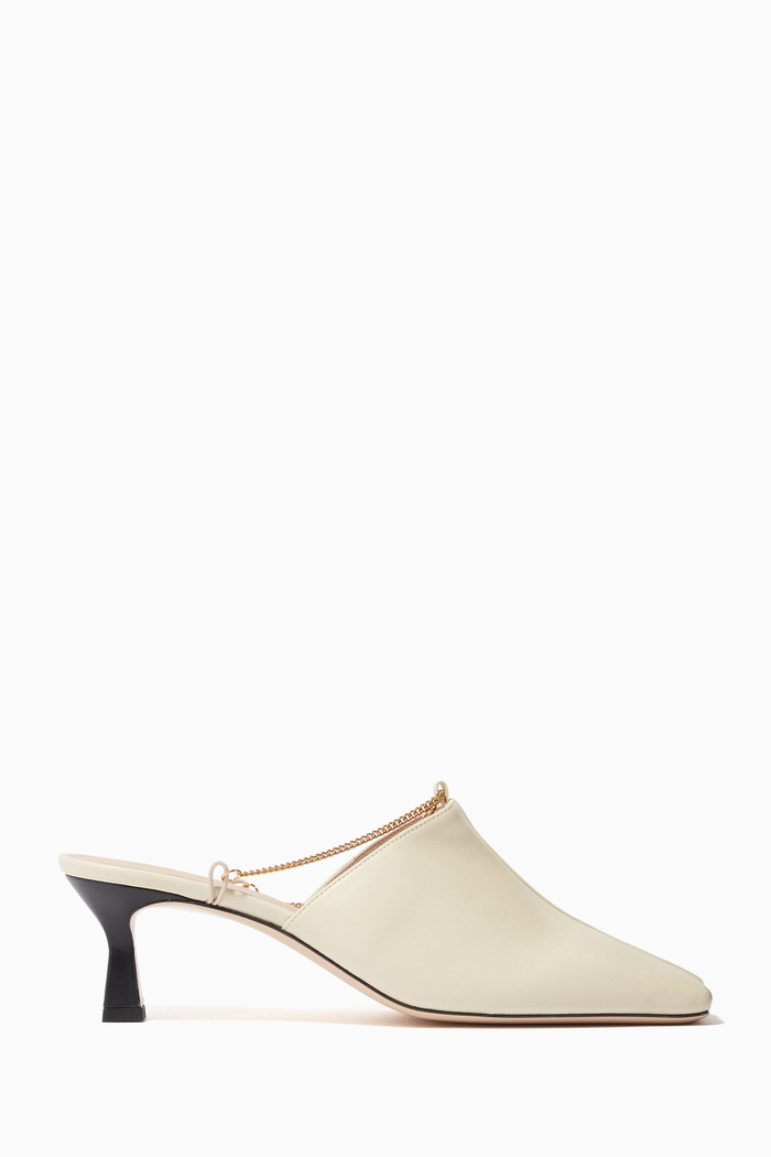 Isa Chain Mules in Leather