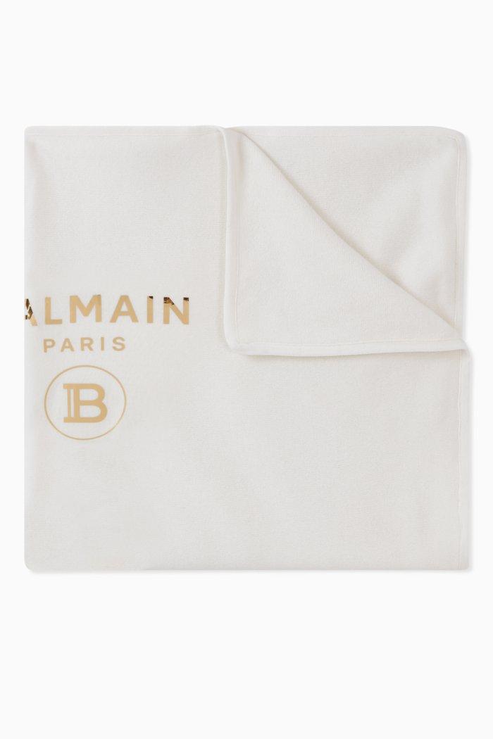Balmain Logo Cotton Blanket