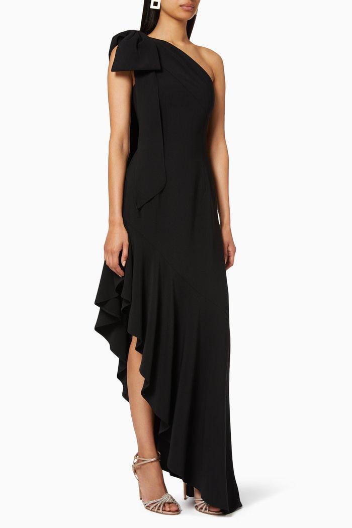 One-shoulder Stretch Crepe Dress