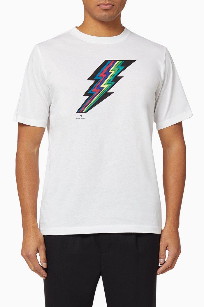 Lightening Print Organic Cotton T-Shirt
