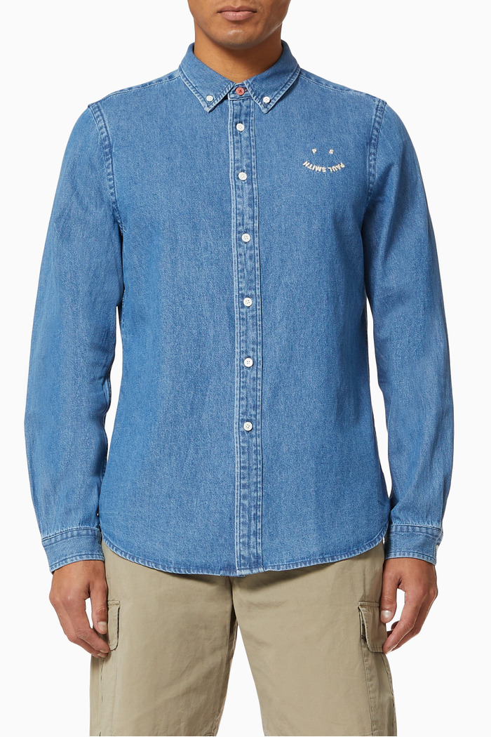 Happy Tailored Fit Shirt in Denim