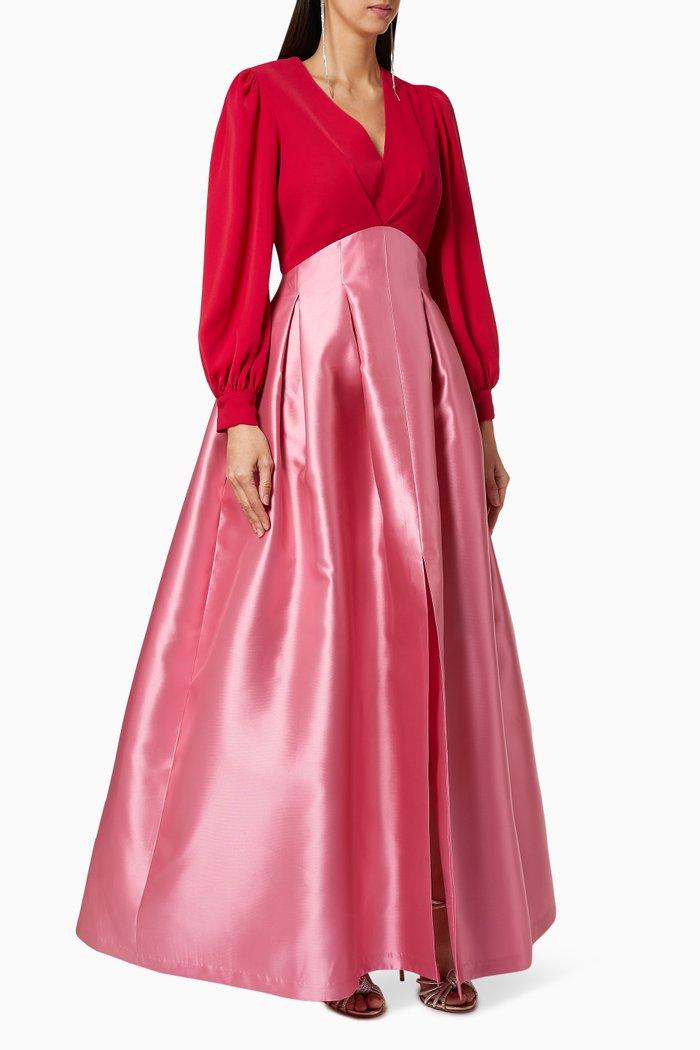 Juliette Colour Block Satin Gown