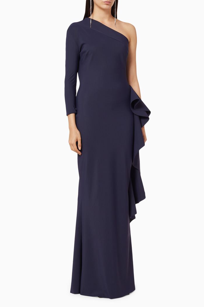 One Shoulder Jersey Gown