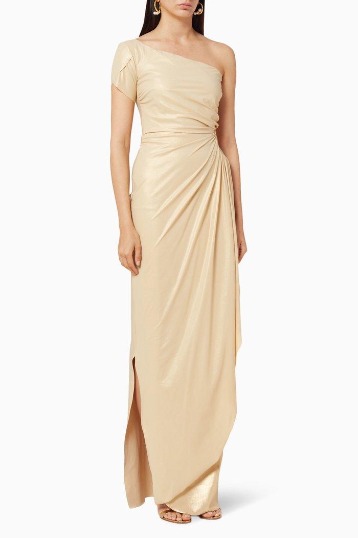 Aleksandrina One Shoulder Gown