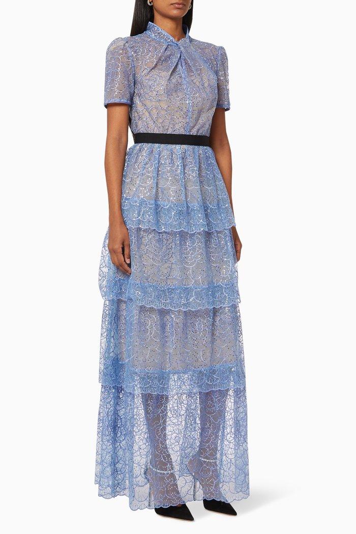 Flower Sequin Midi Dress