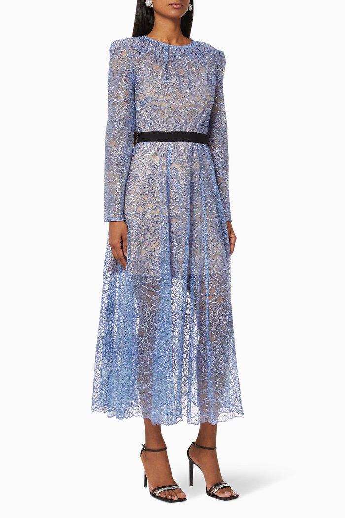 Flower Sequin Mini Dress