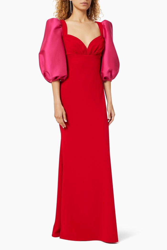 Odessa Balloon Sleeve Gown