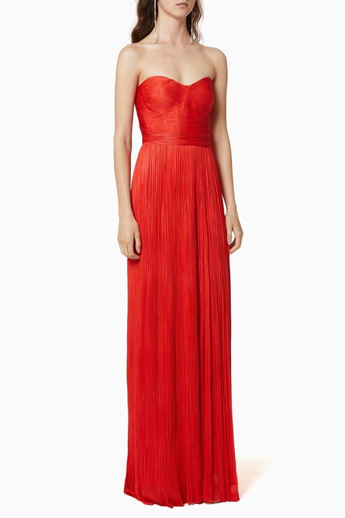 Metallic Silk Tulle Gown