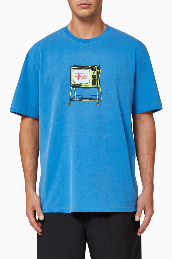 Rolling TV Pigment Dyed Cotton T-shirt