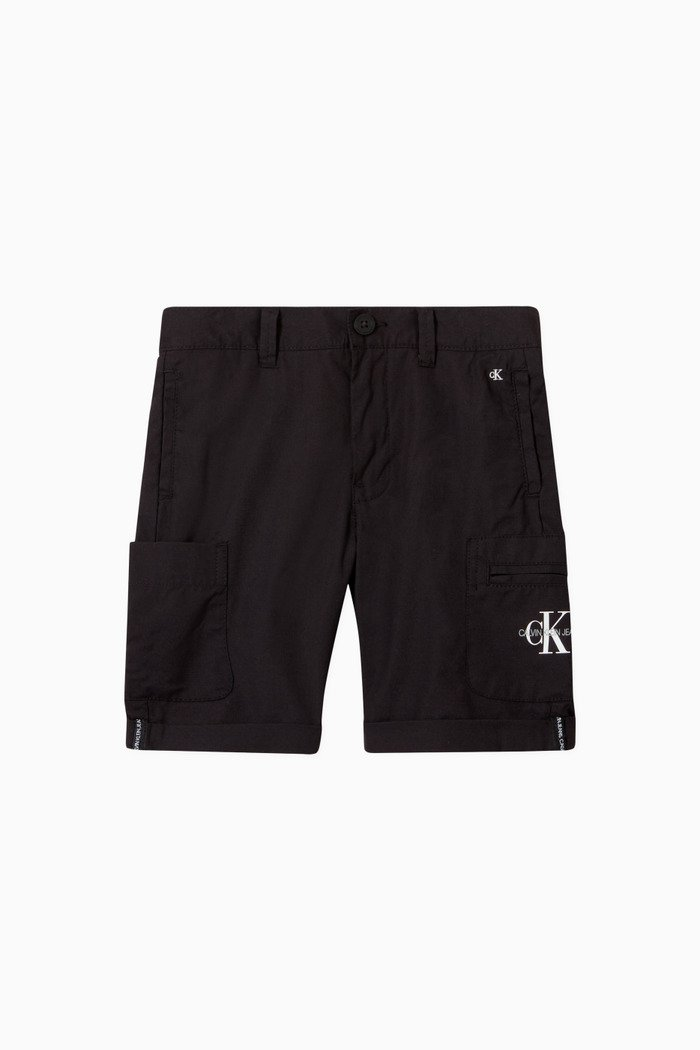 Utility Shorts in Cotton Blend