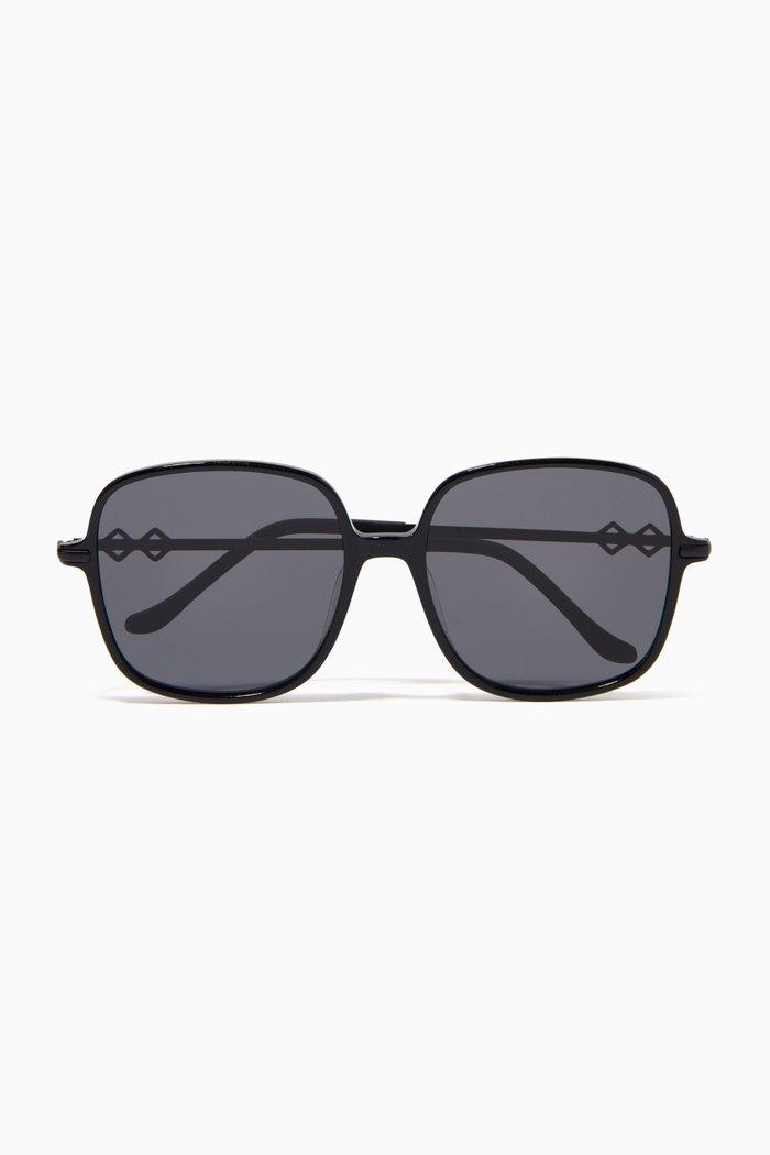 Alexis Square Sunglasses in Metal
