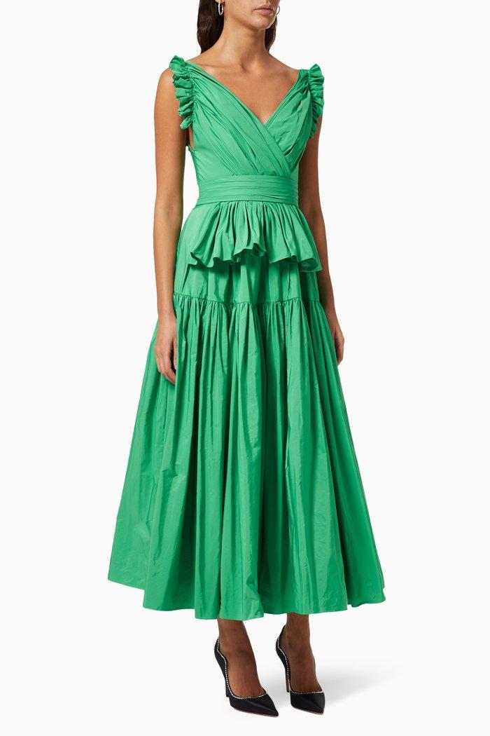 Draped Dress in Taffeta