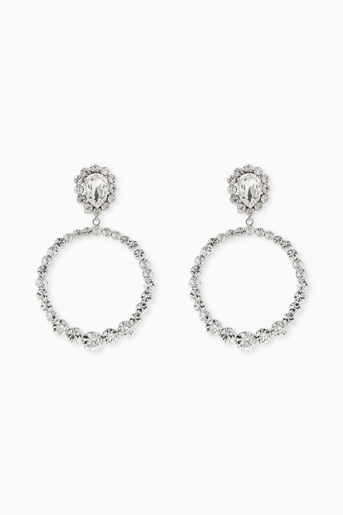Crystal Drop Clip Earrings