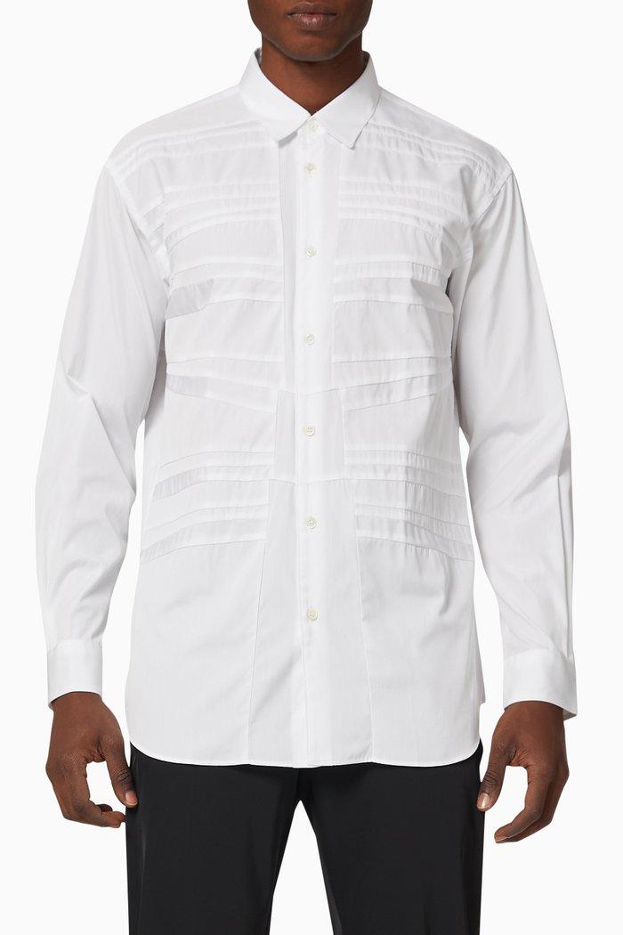 Stitched Cotton Poplin Shirt