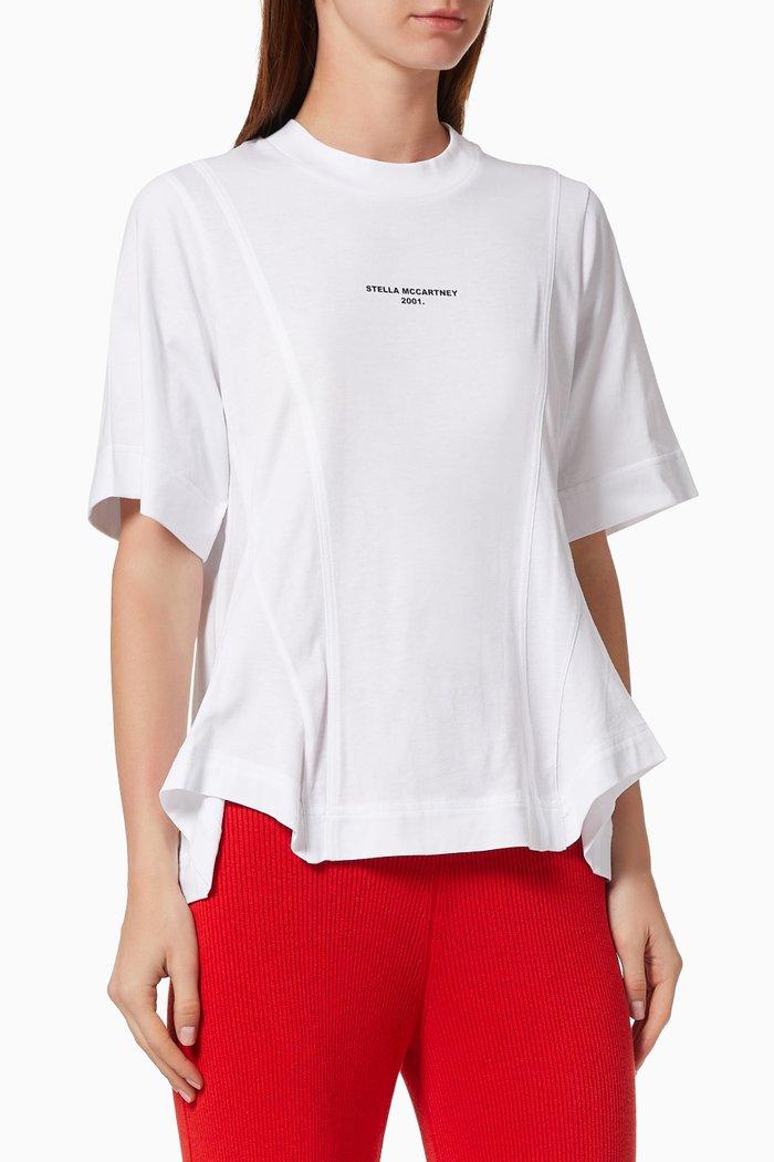 """Stella McCartney 2001."" Drape T-shirt in Organic Cotton Jersey"