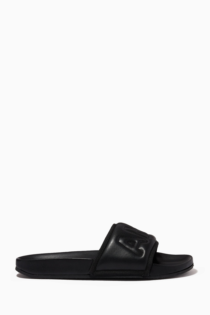 Padded Slides in Leather