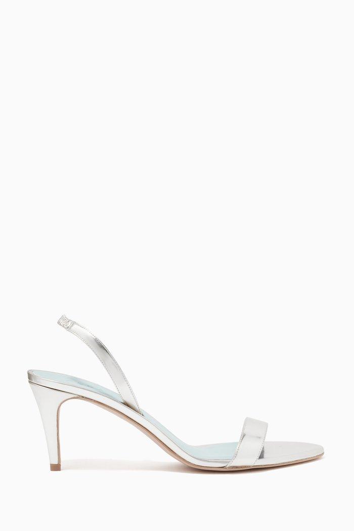 Sally Slingbalck Sandals in Mirror Vegan Leather