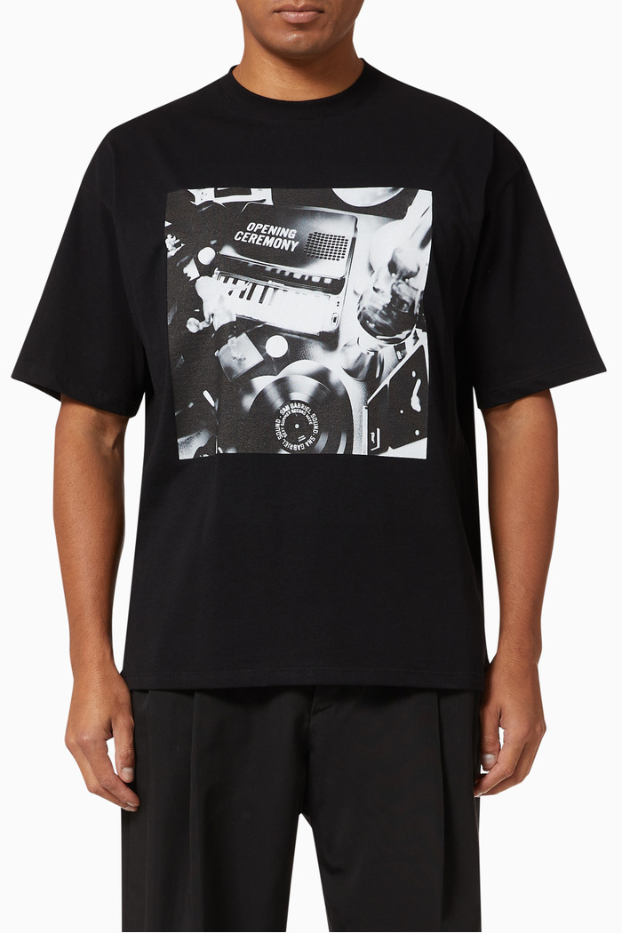 Piano Print T-shirt in Cotton