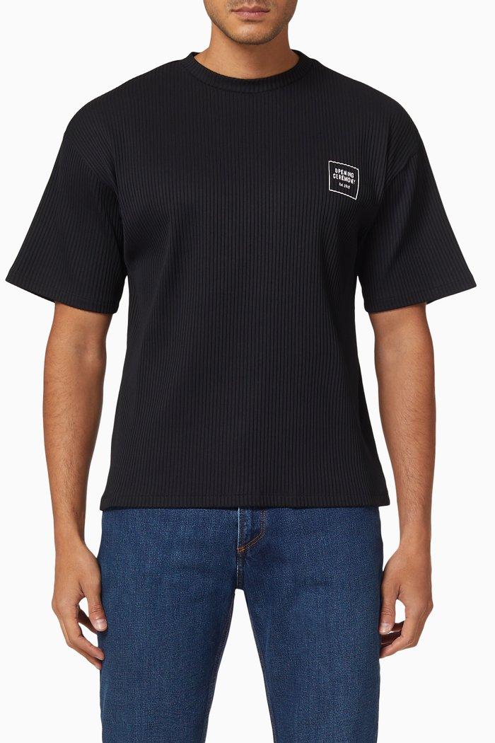 Box Logo Rib T-shirt