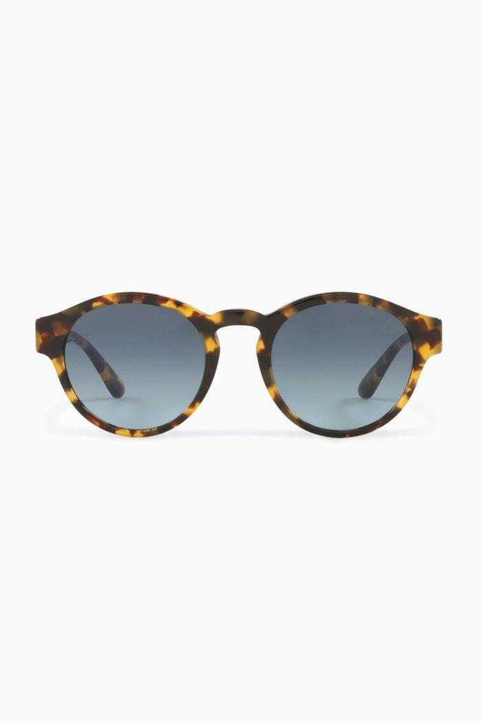 Round Sunglasses in Acetate