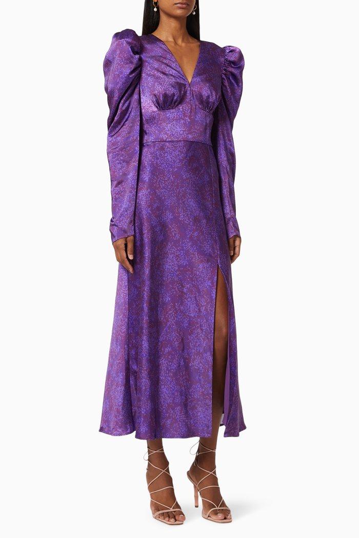 Tonight Midi Dress in Satin
